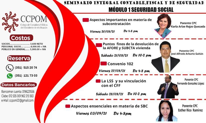 Seminario Integral contable y fiscal de seguridad social (Módulo 1 – Seguridad Social)