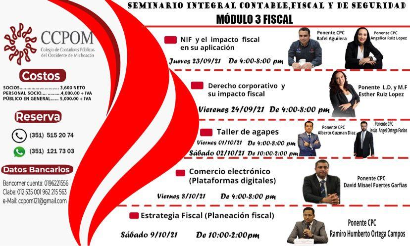 Seminario Integral contable y fiscal de seguridad social (Módulo 3 – Fiscal)
